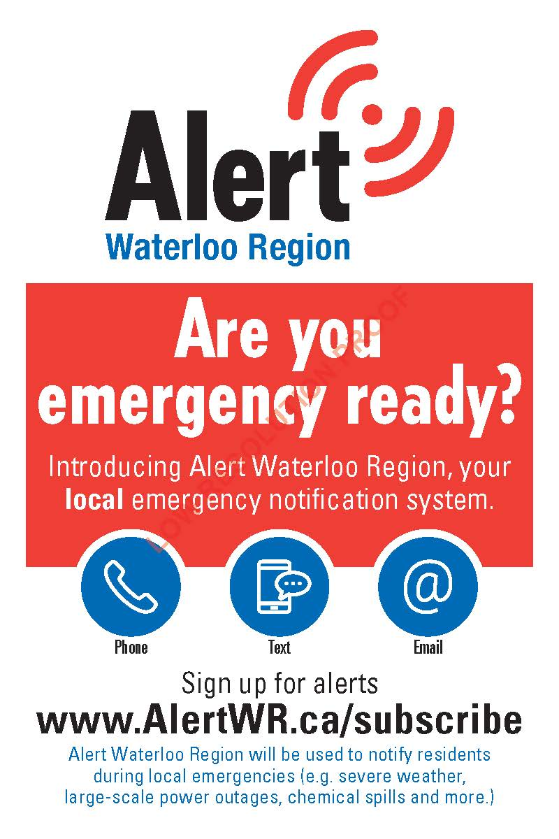 Alert Waterloo Region postcard