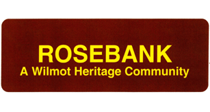 Sign stating Rosebank A Wilmot Heritage Community