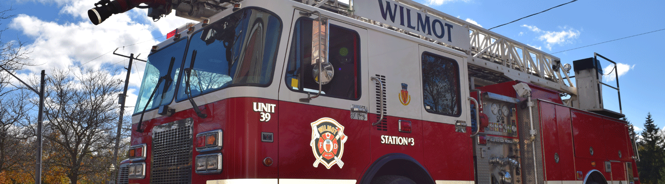 Wilmot Fire Department ladder truck