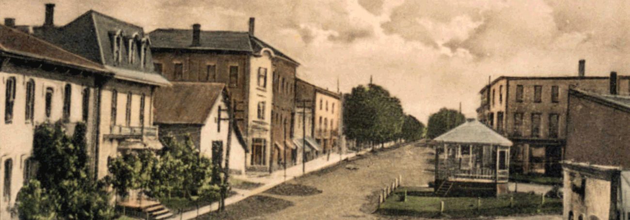 Old picture of Peel Street in New Hamburg