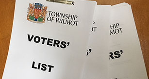 Stacks of Voters' Lists for the Township of Wilmot